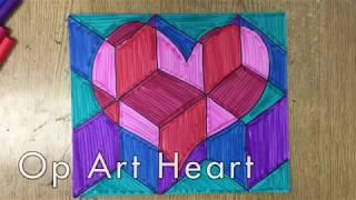 How to Make an Op Art Heart