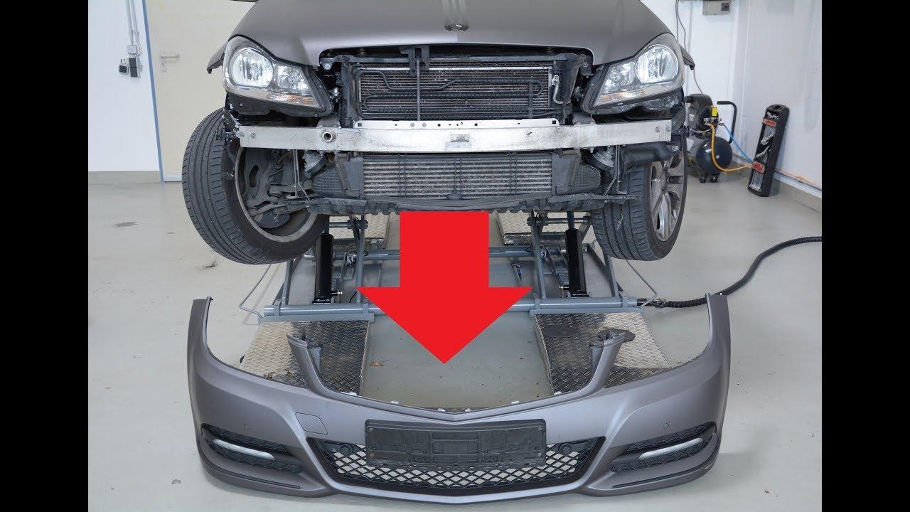 Front bumper install removal mercedes c klasse 2012 w204 for Mercedes benz installing parking sensors aftermarket