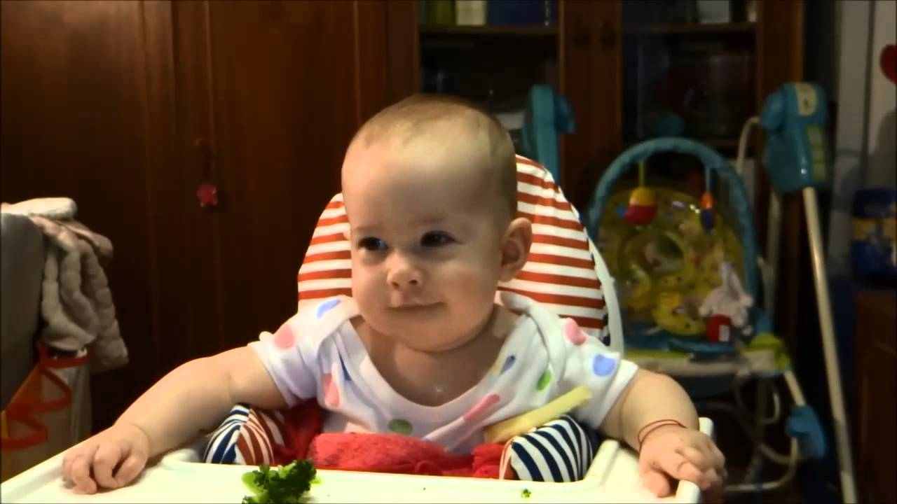 Πρώτη στερεό γεύμα στους 6 μήνες (BLW - μωρό οδήγησαν απογαλακτισμού ... 7abd8aa4cfc