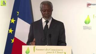 Kofi Annan on climate trends: NYC will drown and