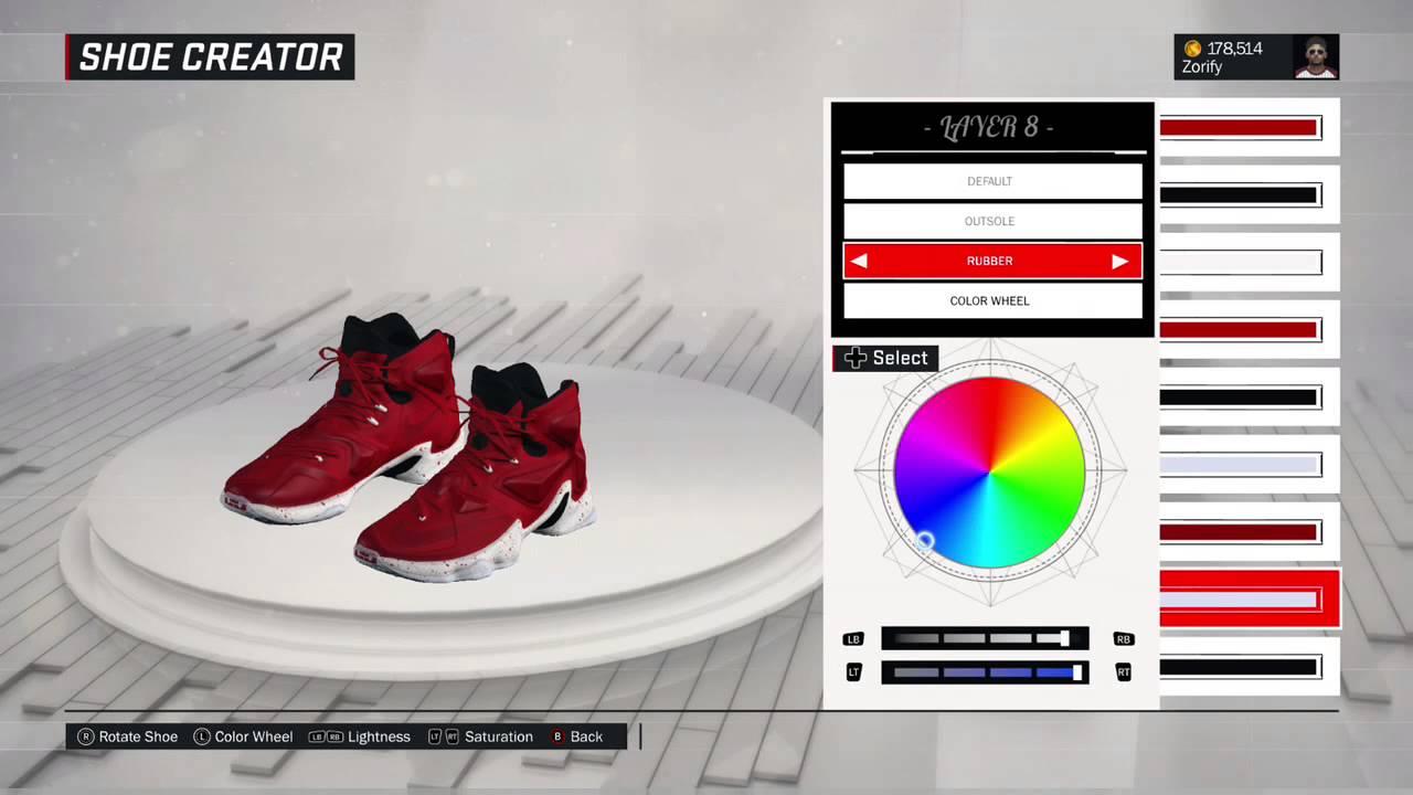 6e565122b40 NBA 2K17 Shoe Creator - Nike LeBron 13