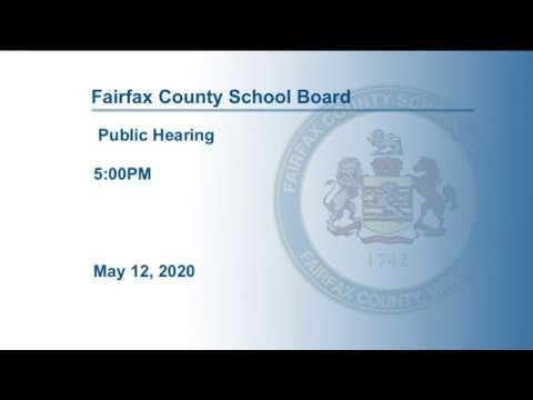FCPS School Board Budget Public Hearing 5-12-20