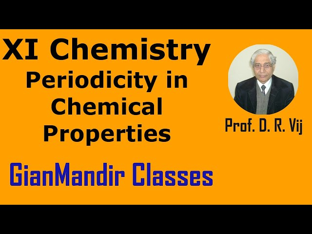 XI Chemistry | Periodicity in Chemical Properties by Ruchi Ma'am