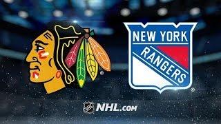 CHICAGO BLACKHAWKS VS NEW YORK RANGERS HIGHLIGHTS 1/3/18