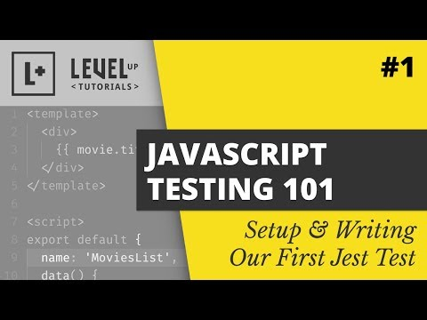 Setup & Writing Our First Jest Test - JavaScript Testing