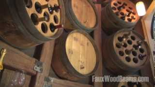 Fake Wood Beams Used For Wine Cellar Design | Watch The Installation