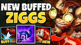 THIS ZIGGS BUFF IS 100% AMAZING! IS ZIGGS THE BEST MAGE NOW?! - League of Legends