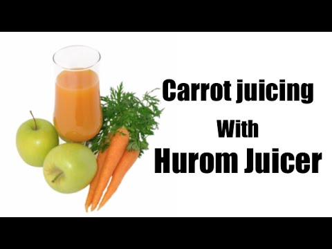 Hurom Slow Juicer Carrots : Carrot juicing with Hurom Juicer. Le jus de carotte avec l extracteur Hurom - YouTube