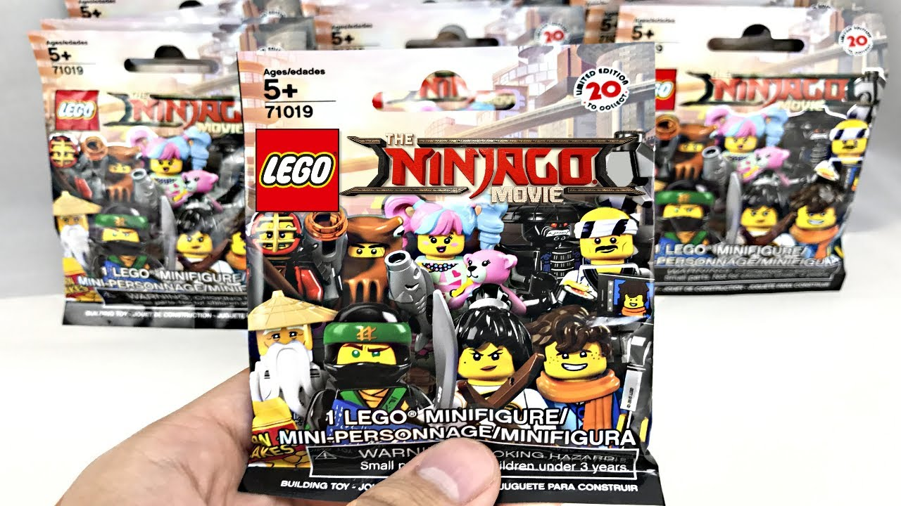 Lego Ninjago Minifigures 20 Pack Opening Youtube