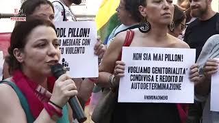 Roma, presidio contro il Ddl Pillon