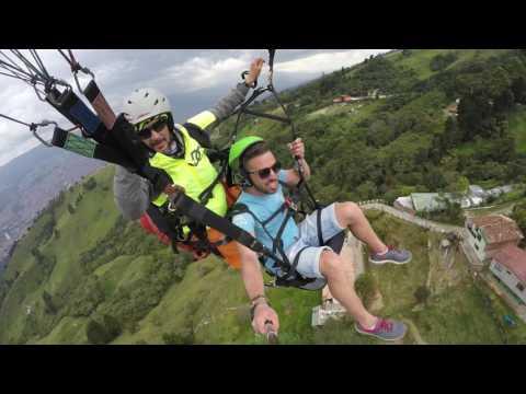 Paragliding over Medellin!