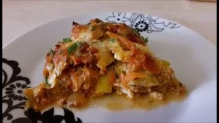 ЛАЗАНЬЯ из КАБАЧКОВ лазанья рецепт  Lasagna Recipe Вторые блюда рецепты