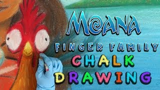 Moana Song | Chalk Drawing | Art for Kids | Family Friendly Music | WigglePop