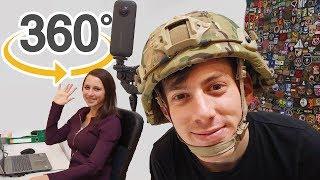 Interactive Airsoft Gameplay + Office Tour | 360 | VR