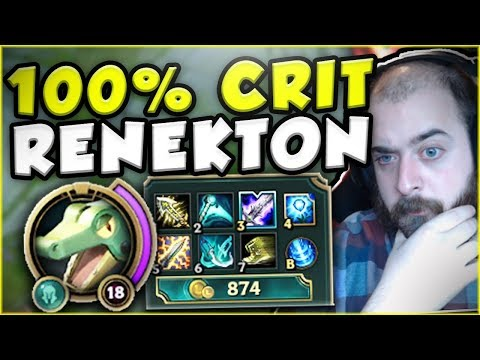 Download Youtube: THIS 100% CRIT RENEKTON BUILD IS ACTUALLY STUPID! CRIT RENEKTON TOP GAMEPLAY! - League of Legends