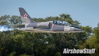 Jet Warbird Flybys - Northern Illinois Airshow 2017