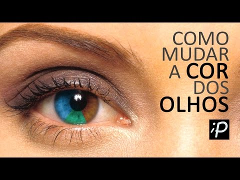 Como Mudar a Cor dos Olhos no Photoshop (Olhos Claros e