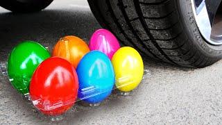 Crushing Crunchy \u0026 Soft Things by Car! Experiment Car vs Candy Balloons toys M\u0026M'S