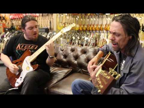 Alan and Connor Pitts from Fix the World Band plays at Norman's Rare Guitars