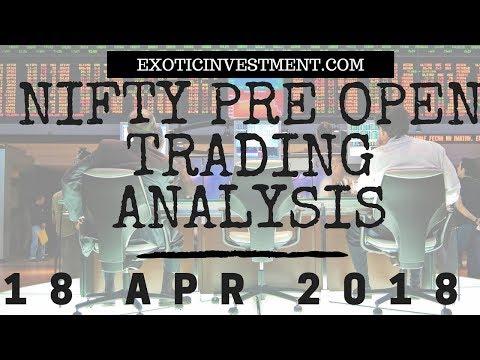 Nifty Pre Open Strategy 18th April 2018:  NSE Pre Open Market Strategy Before the Pre Open Market