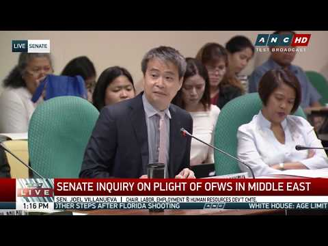 WATCH: Senate holds hearing on situation of OFWs | 21 February 2018