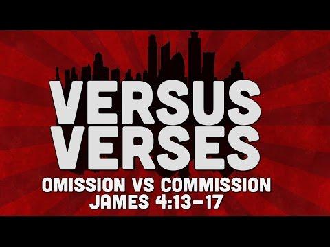 Omission vs Commission   James 4