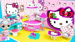МИНИ дом Семейки Китти Квин Куклы ЛОЛ Сюрприз! Мультик LOL Surprise toy DIY Miniature Dollhouse