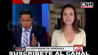 María Corina Machado en Conclusiones, con Fernando del Rincón. CNN