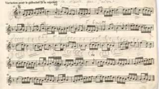 Trois pièces extraites du 11e Cahier de l'Académie du Tambourin (galoubet/piano)