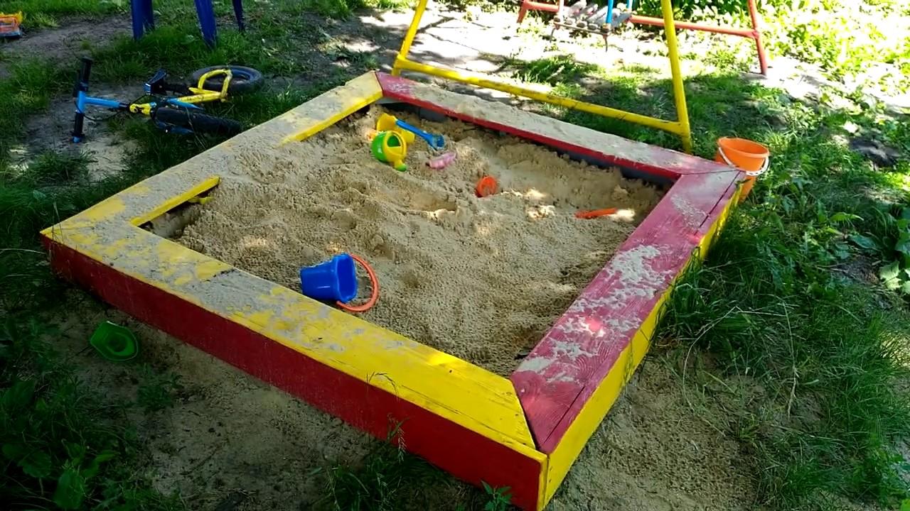 Песочница с качелями своими руками фото 882