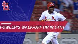 Dexter Fowler clubs a walk-off homer in the 14th