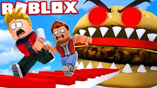 SWALLOWED by a HAMBURGER in ROBLOX!