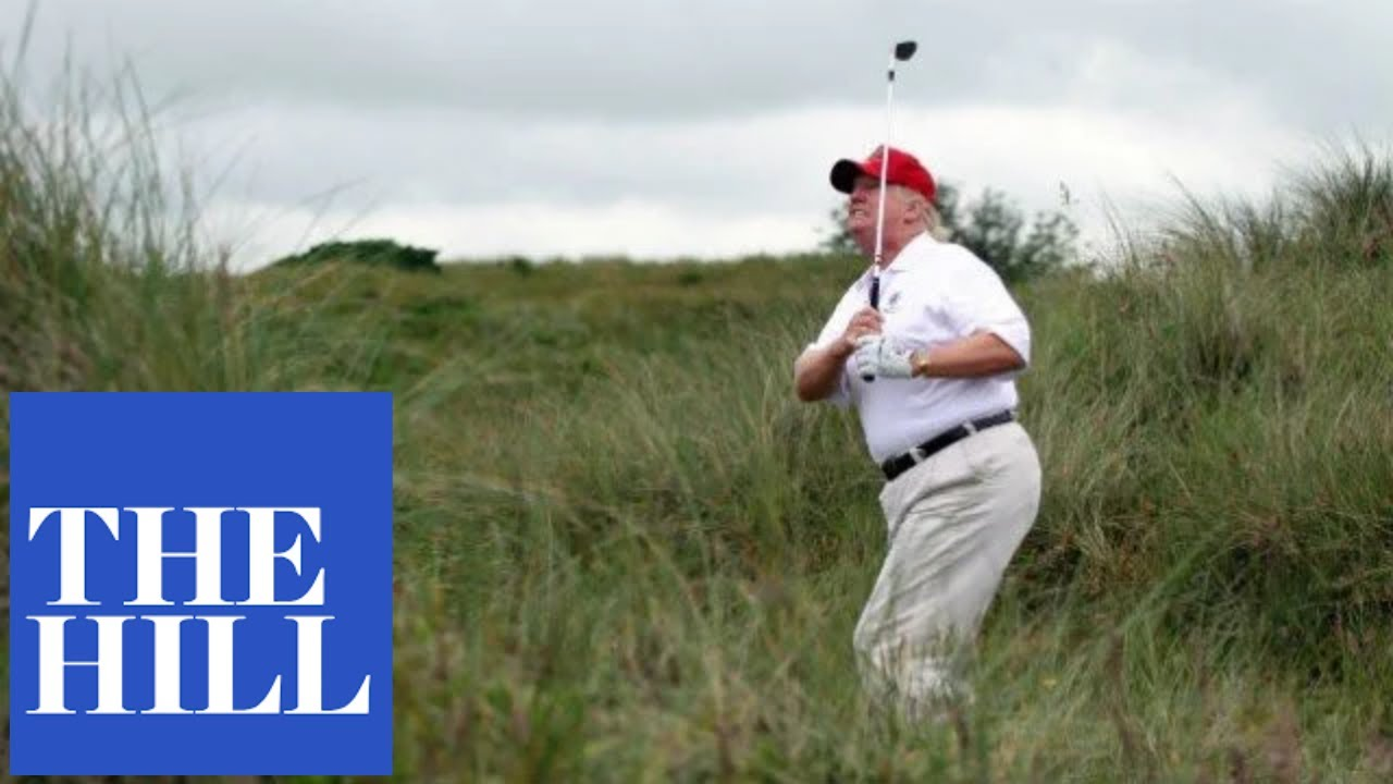 WATCH: Trump goes golfing again amid coronavirus legislation negotiations