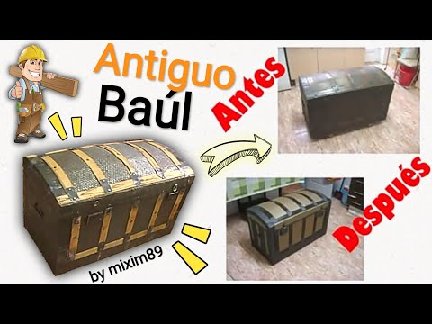 Brico restauraci n baul antiguo by mixim89 youtube - Baules y arcones de madera ...
