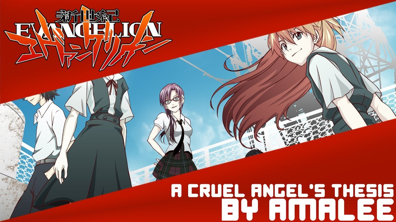 a thesis of a cruel angel Neon genesis evangelion - cruel angel's thesis (letra e música para ouvir) - zankoku na tenshi no you ni / shounen yo shinwa ni nare / / aoi kaze ga ima / mune no doa wo tataite mo / watashi dake wo tada mitsumete / hohoende'ru anata.