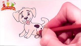 Как нарисовать собаку ,картинка рисунок \ How to draw a dog