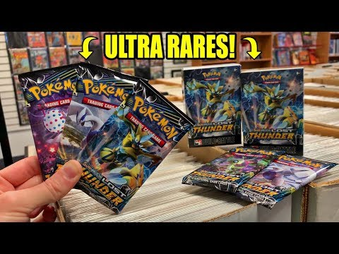 LUCKY LOST THUNDER PACK OPENING AT POKEMON CARDS PRERELEASE EVENT!