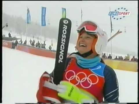 Olympic Gold for Julia Mancuso - Torino 06 (live)
