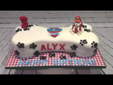 How To Make A Paw Patrol Bone Birthday Cake