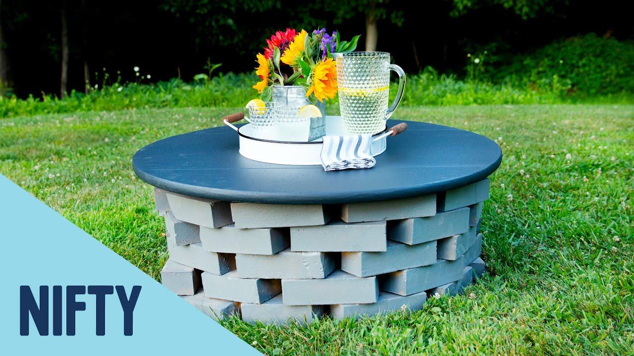 DIY Fire Pit Tabletop