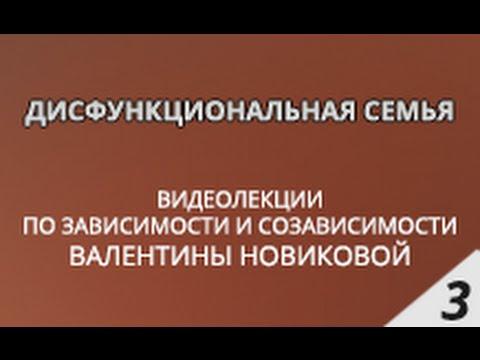 Дисфункциональная семья - Лекции Валентины Новиковой
