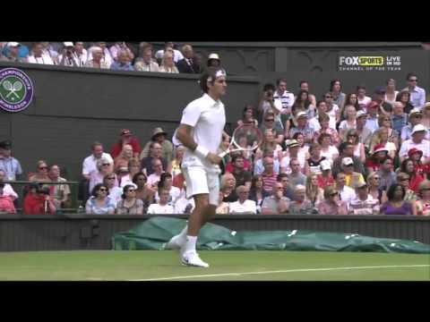 Roger Federer Slow motion Backhand 2012