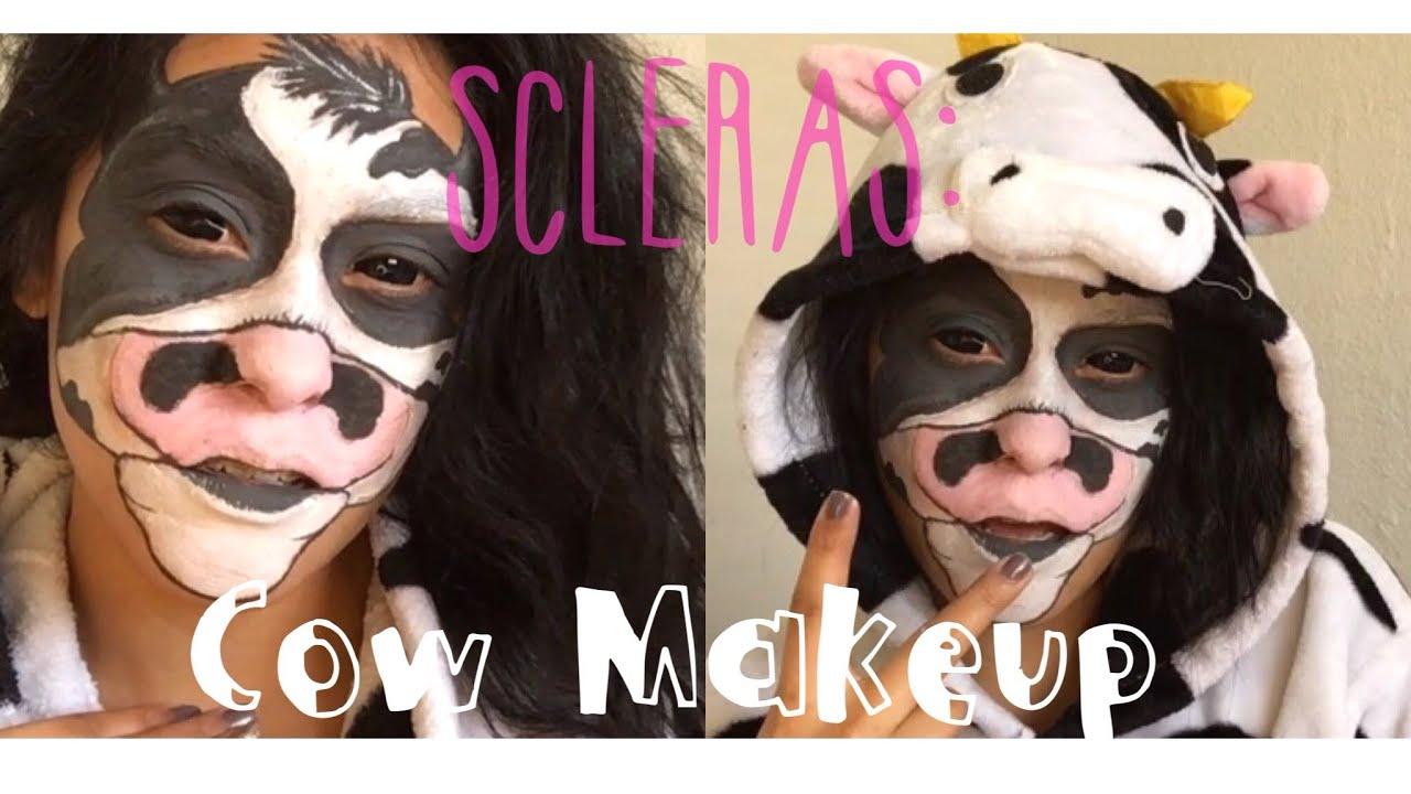 Sclera Lens: Cow Makeup | Danielle Miranda - YouTube