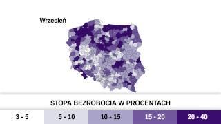 Stopa bezrobocia w Polsce [BIQDATA] | Gazeta Wyborcza