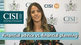 What is the difference between financial advice and financial planning?