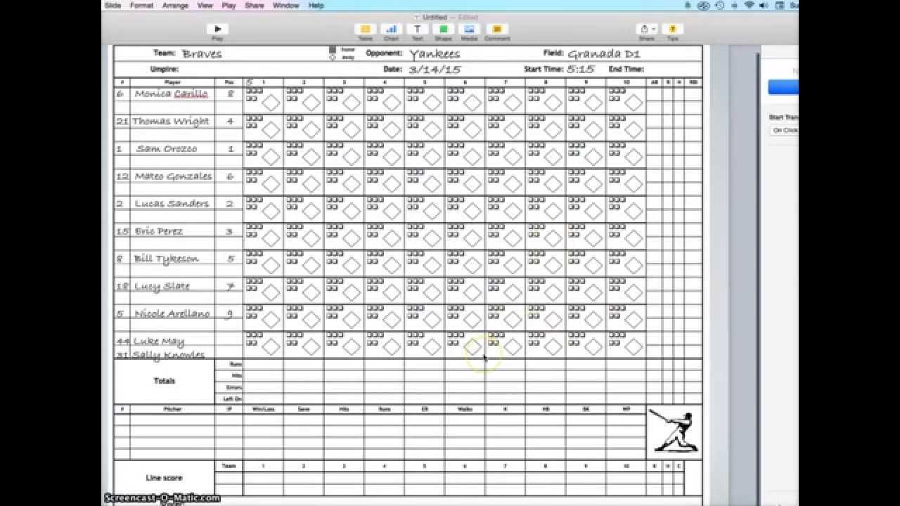 scorekeeping part 1 of 4  set-up