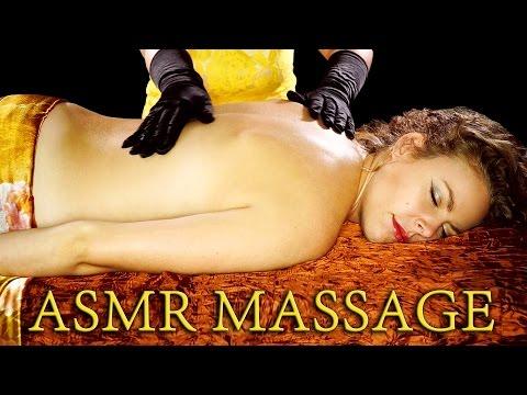 ASMR Massage No Talking! Back Rub w/ Glove, Skin Sounds and Gentle Back Tickling
