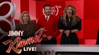 The Jimmy Kimmel Live (RED) SHOPATHON with Julia Roberts and Kristen Bell