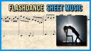 Love theme from Flashdance (Giorgio Moroder) | Piano Sheet Music 🎼 Resimi