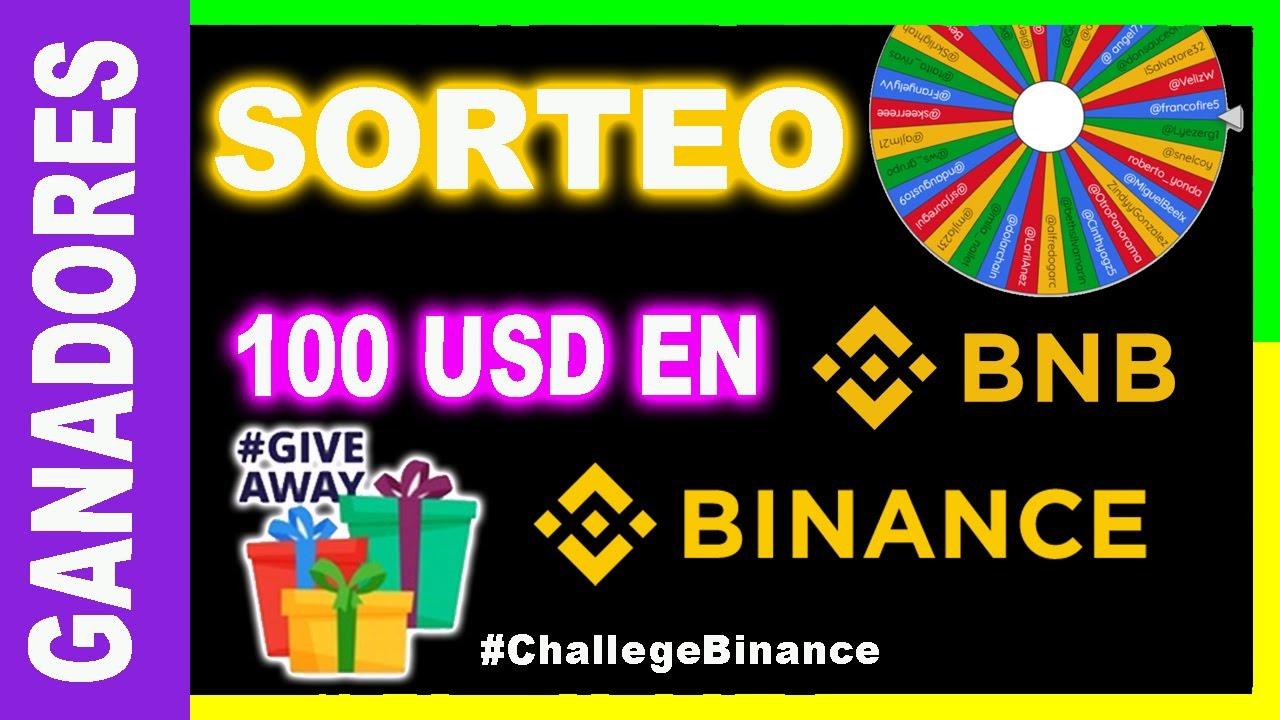 🔥GANADORES SORTEO 100 USD EN BNB - GIVEAWAY 100 USD BNB CHALLENGE BINANCE